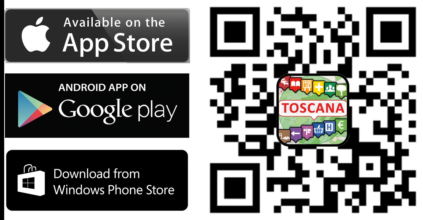 QRCode app store TOSCANA